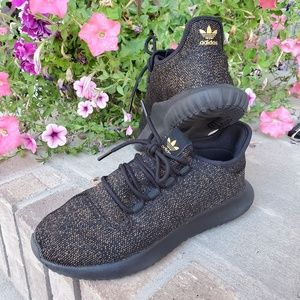 Adidas tubular women's shoes gold sneakers